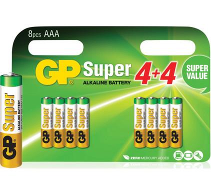 GP Super Alkaline Valuepack 8x AAA Duo Pack