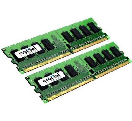 Crucial 4GB DDR2 DIMM 800 MHz (2x2GB)