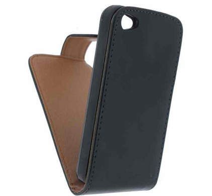 Xccess Leather Flip Case Apple iPhone 4/4S Zwart