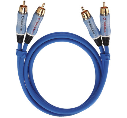 Oehlbach BEAT! Stereo RCA Kabel 5 meter blauw