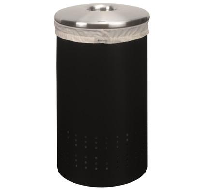 Brabantia Wasbox 50 Liter Matt Steel.Brabantia Wasbox 50 Liter Zwart