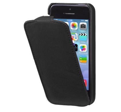Decoded Leather Flipcase Apple iPhone 5/5S/SE Black