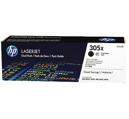 HP 305X Toner Zwart Dual Pack (CE410XD)
