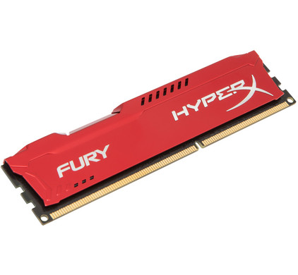 Kingston HyperX FURY 8GB DDR3 DIMM 1600 MHz Rood (1x8GB)