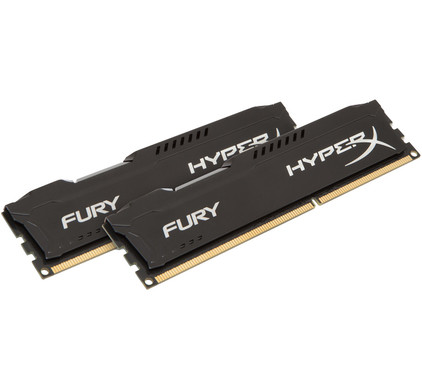 Kingston HyperX FURY 8 GB DIMM DDR3-1866 zwart 2 x 4 GB