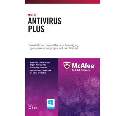 McAfee Antivirus Plus Activation Card 1 jaar abonnement