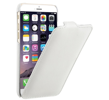 Decoded Leather Flip Case Apple iPhone 6/6s Wit