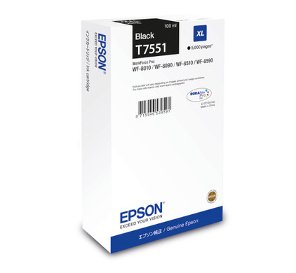 Epson T7551 XL Cartridge Zwart C13T755140