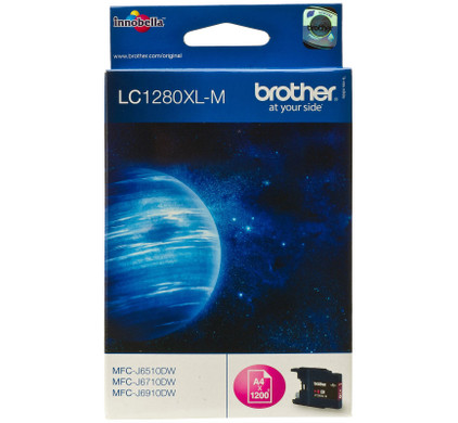 Brother LC-1280M XL Magenta (rood)