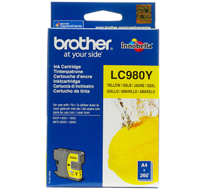 Brother LC-980Y Yellow Ink Cartridge (Geel)