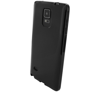 Mobiparts Essential TPU Case Samsung Galaxy Note 4 Zwart