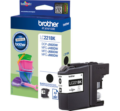 Brother LC-221BK Cartridge Zwart