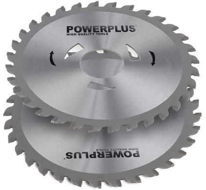 Powerplus zaagbladen 115mm 28T (2x)