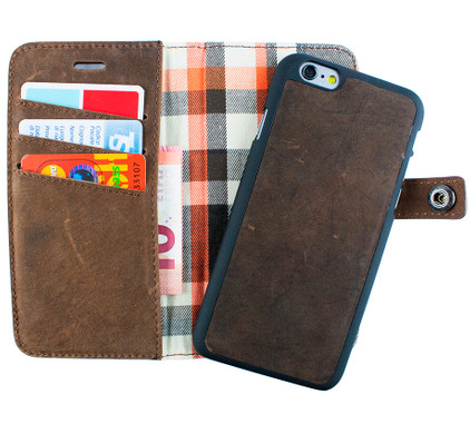 iMoshion Moyland Apple iPhone 6/6s 2 in 1 Wallet Case Bruin