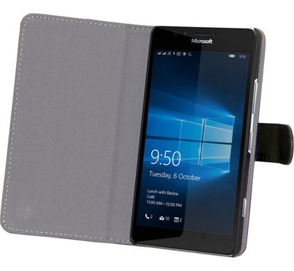 Gecko Covers Slimfit Book Case Microsoft Lumia 950 XL Zwart
