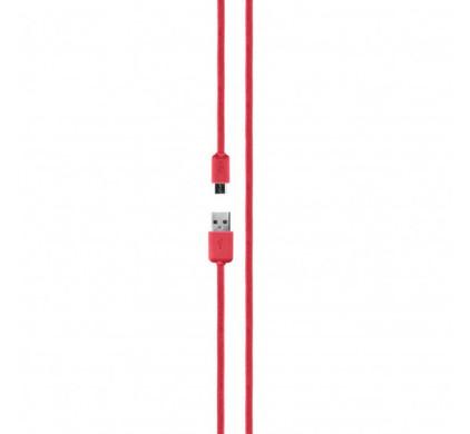 Xqisit Cotton Kabel Micro USB 2.0 1,8m Rood