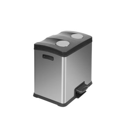 EKO Rejoice 12 + 12 Liter Mat RVS