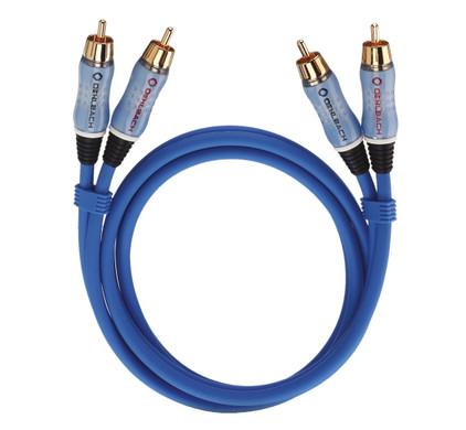 Oehlbach BEAT! Stereo RCA Kabel 0,5 meter blauw