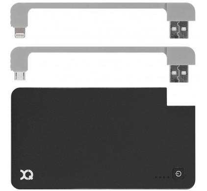 Xqisit Powerbank 5000 mAh micro usb/Lightning Zwart
