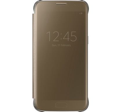Samsung Galaxy S7 Clear View Cover Goud