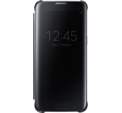 Samsung Galaxy S7 Edge Clear View Cover Zwart