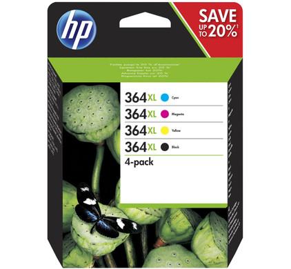HP 364XL Combo Pack 4-Kleuren (N9J74AE)