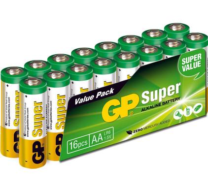 GP Super Alkaline Valuepack 16x AA Duo Pack