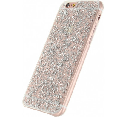 Xccess Glitter TPU Case Apple iPhone 6/6s Zilver