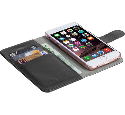 Krusell Ekero 2 in 1 Wallet Case Apple iPhone 5/5S/SE Zwart