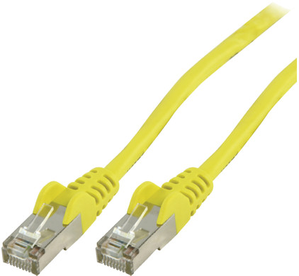 Valueline Netwerkkabel UTP CAT5e 0,5 meter Geel