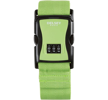 Delsey Travel Necessities Luggage Strap Lime
