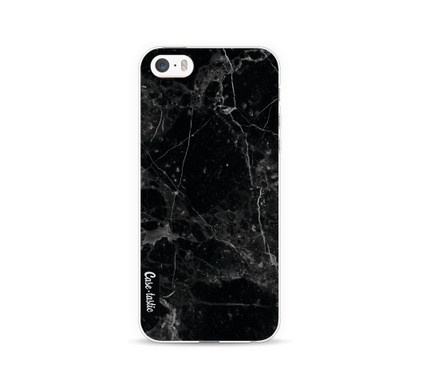 Casetastic Softcover Apple iPhone 5/5S/SE Black Marble