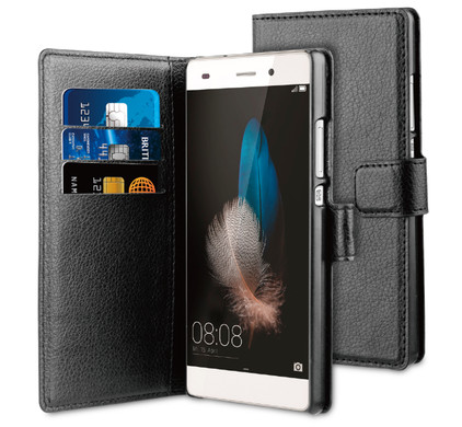 BeHello Wallet Case Huawei P8 Zwart