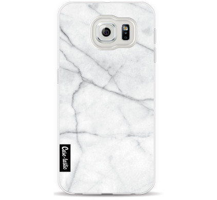 Casetastic Softcover Samsung Galaxy S6 White Marble