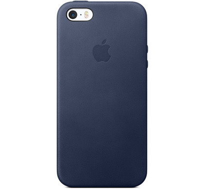 Apple iPhone 5/5S/SE Leather Case Blauw