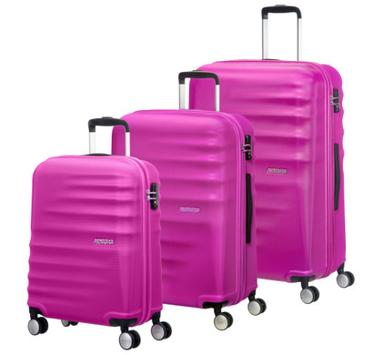 American Tourister WaveBreaker Set A 3 Stuks Hot Lips Pink