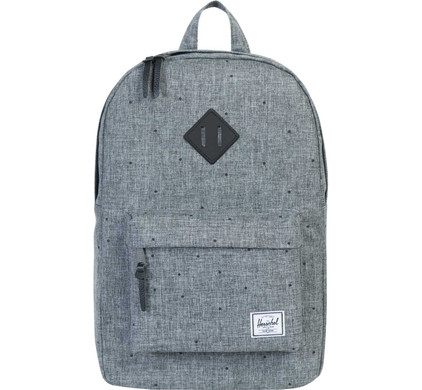Herschel Heritage Mid-Volume Scattered Raven Crosshatch/Black Rubber