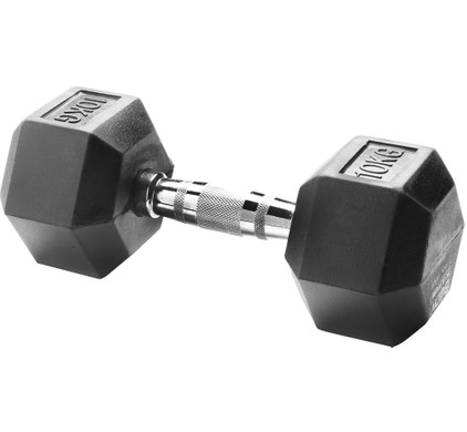 Body Sculpture Hexa Rubber Dumbbell 1x 10 kg