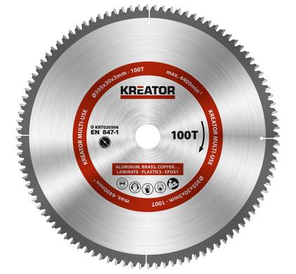 Kreator Lame pour scie Universelle 305 x 30 x 3 mm 100T