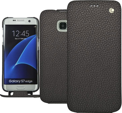 Noreve Tradition Grain Leather Case Samsung Galaxy S7 Edge Grijs