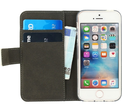 Mobilize Gelly Wallet Book Case Apple iPhone 5/5S/SE Wit