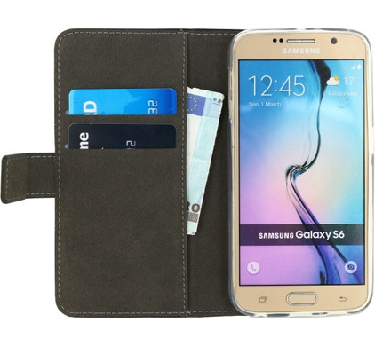 Mobilize Gelly Wallet Book Case Samsung Galaxy S6 Zwart