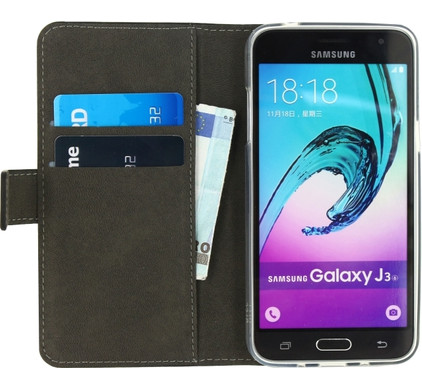 Mobilize Gelly Wallet Book Case Samsung Galaxy J3 (2016) Zwart