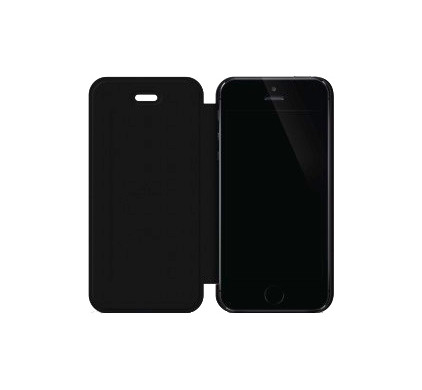 Black Rock Flex Carbon Booklet Apple iPhone 5/5S/SE Zwart