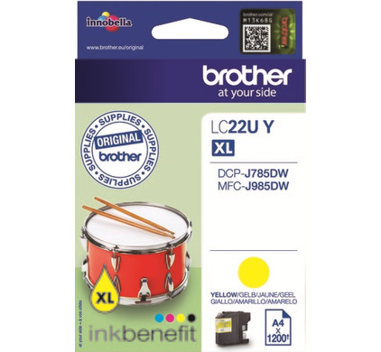 Brother LC-22UY Geel