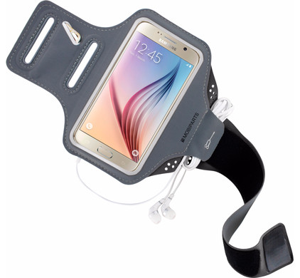 Mobiparts Comfort Fit Sportarmband Samsung Galaxy S6 Grijs