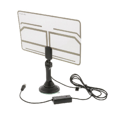 Antenne intérieure ultrafine transparente Konig DVB-T