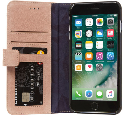 Decoded Leather Wallet Case Apple iPhone 7 Plus/8 Plus Roze