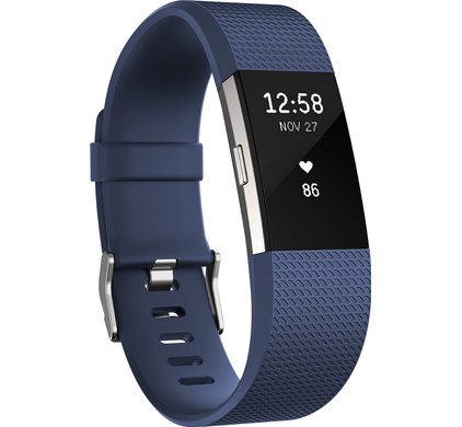 Fitbit Charge 2 Blue/Silver - L
