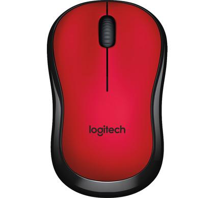 Logitech M220 Silent Draadloze Muis Rood